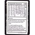 (PWマークなし)(2021)Yawgmoth's Testament《英語》【Mystery Booster Playtest Cards】